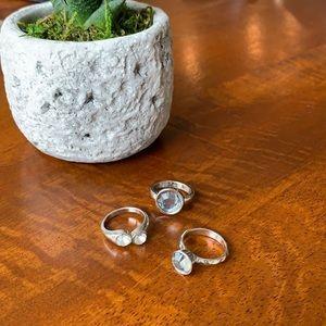 Bundle of 3 silver rings ✨